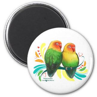 Fischer Lovebirds 6 Cm Round Magnet