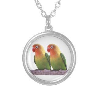 Fischer's Lovebird Silver Plated Necklace