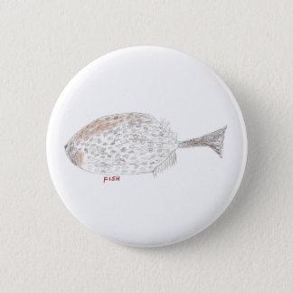 Fish 6 Cm Round Badge