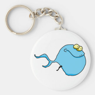 Fish 8 basic round button key ring