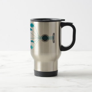 Fish a guitar travel mug
