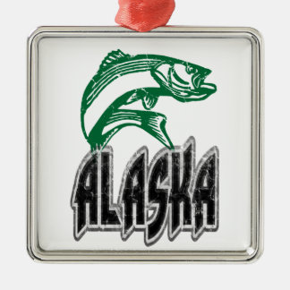 FISH ALASKA METAL ORNAMENT