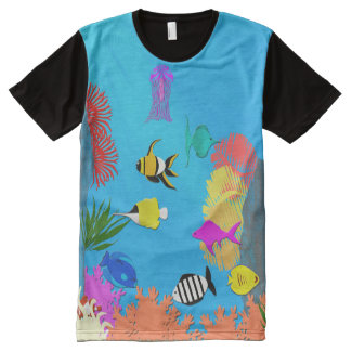 Fish All-Over Print T-Shirt