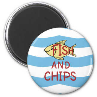 Fish and Chips 2 Magnet