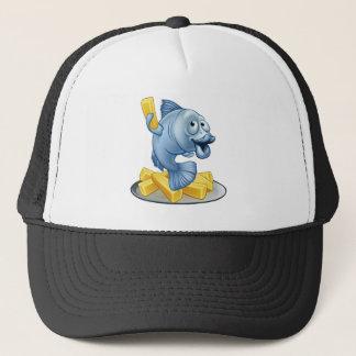 Fish and Chips Cartoon Cap
