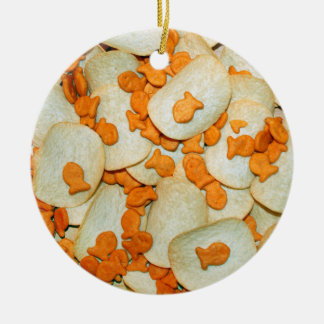 Fish And Chips Ceramic Ornament