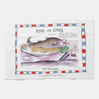 fish and chips recipe, tony fernandes kitchen towels