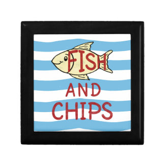 Fish and Chips Square Design Gift Box