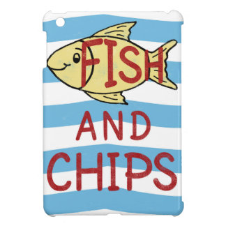 Fish and Chips Square Design iPad Mini Covers