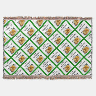 fish and chips throw blanket