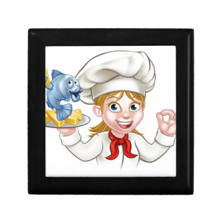 Fish and Chips Woman Chef Gift Box