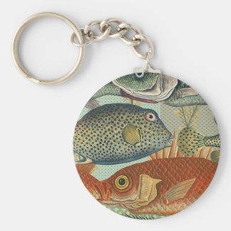 Fish and Seaweed Key Ring
