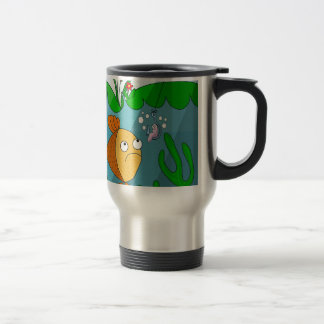 Fish and worm travel mug