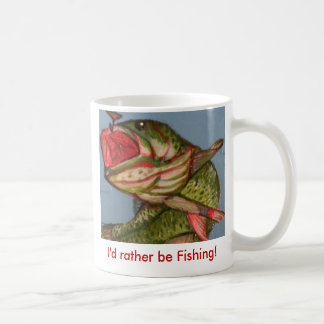Fish art 056, I'd rather be Fishing! Coffee Mug