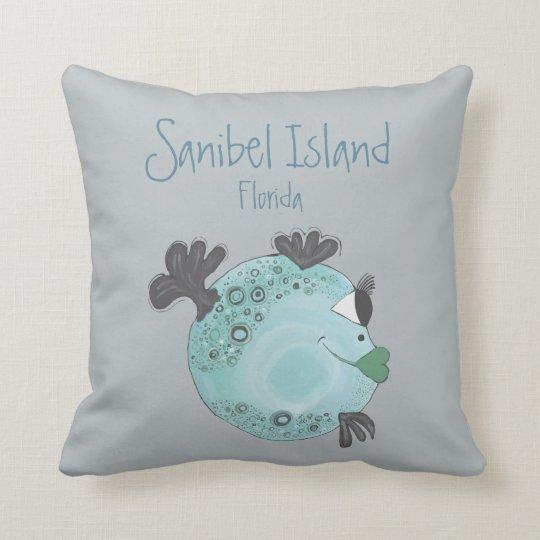 Fish Artwork Sanibel Island FL Cushion