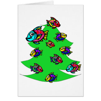 fish at Christmas tree Card