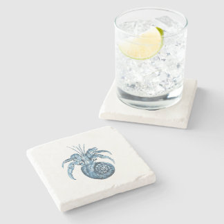 Fish beach nautical coastal ocean blue gifts stone beverage coaster