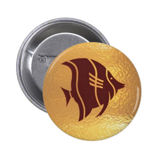 Fish Bird Insect Robot Star - Medal Icon Gold Base 6 Cm Round Badge