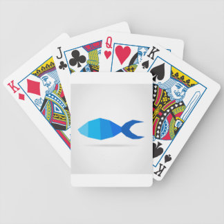 Fish blue bicycle playing cards