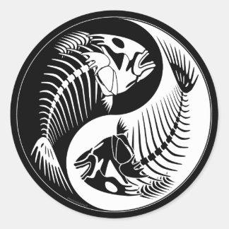 Fish Bone Yang Classic Round Sticker