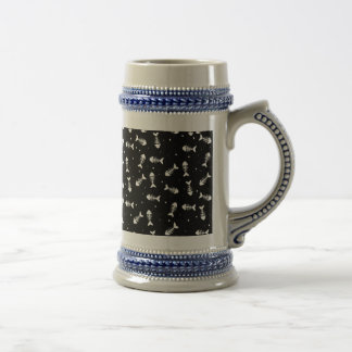 Fish bones pattern beer stein