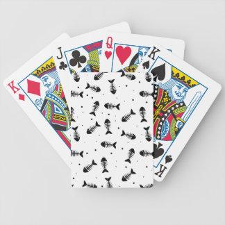 Fish bones pattern bicycle playing cards