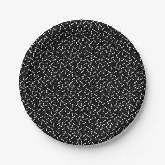 Fish bones pattern paper plate