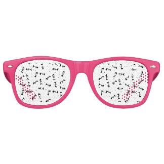 Fish bones pattern retro sunglasses