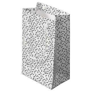 Fish bones pattern small gift bag
