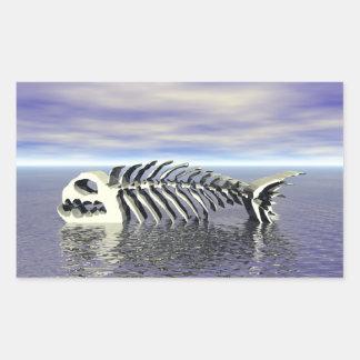 Fish Bones Rectangular Sticker