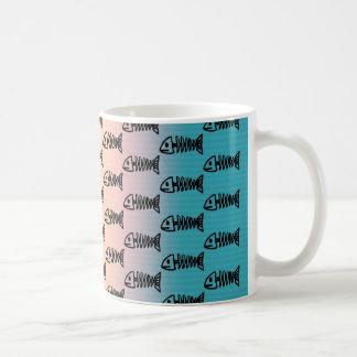 Fish Bones Skeletons Pattern Multicolored Gifts Coffee Mug