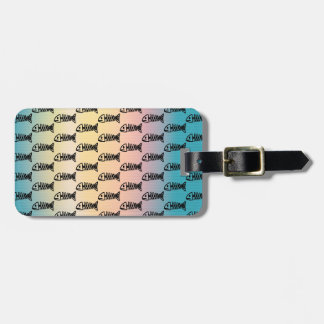 Fish Bones Skeletons Pattern Multicolored Gifts Luggage Tag