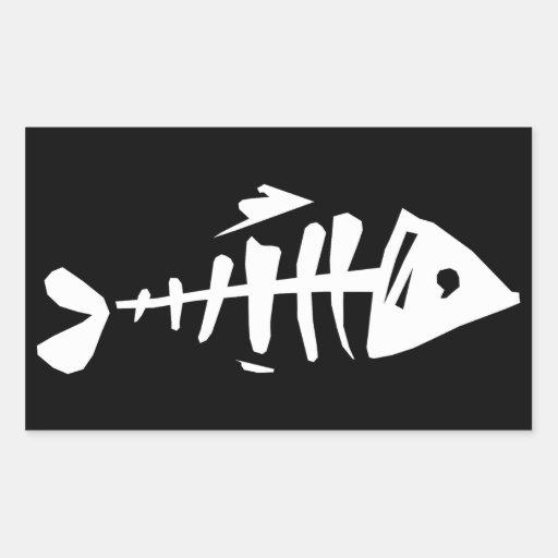 Fish Bones Rectangle Sticker