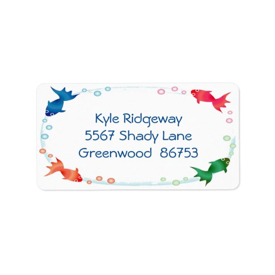 Fish Border Address Label