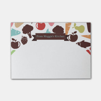 Fish bread fruit vegetable food chef catering sticky notes