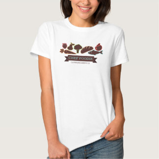 Fish bread fruit vegetable food chef catering tee shirts