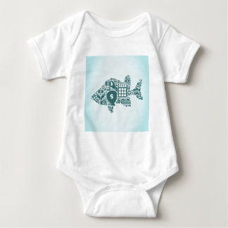 Fish business baby bodysuit