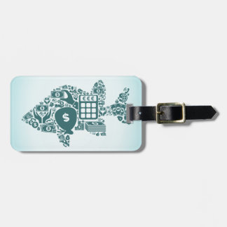 Fish business luggage tag
