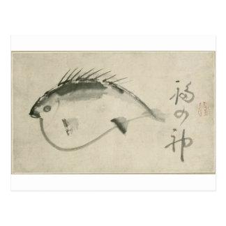 Fish by Sengai Postcard