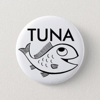 fish_-_cartoon_01, TUNA 6 Cm Round Badge