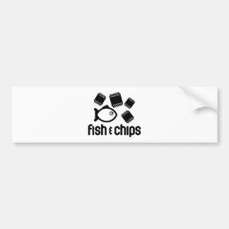 Fish & Chips Bumper Sticker