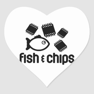 Fish Chips Stickers