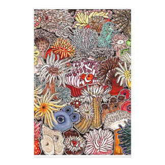 Fish clown and anemones stationery
