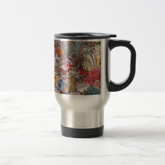 Fish clown and anemones travel mug