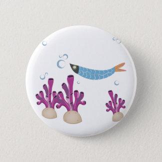Fish & Coral 6 Cm Round Badge