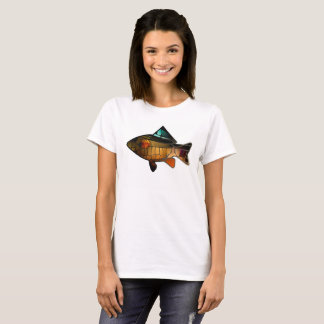 Fish covered with precious gold crystals. T-Shirt