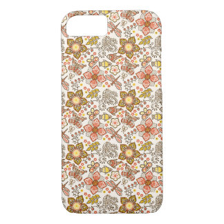 Fish Dragonfly Flower Orange Yellow Pattern iPhone 8/7 Case