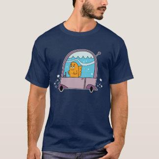 Fish Driving a Car - Men's T-Shirt