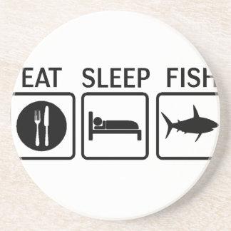 fish eat sleep coaster