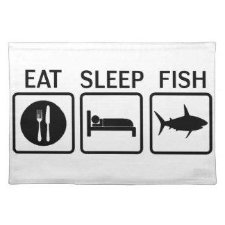 fish eat sleep place mat
